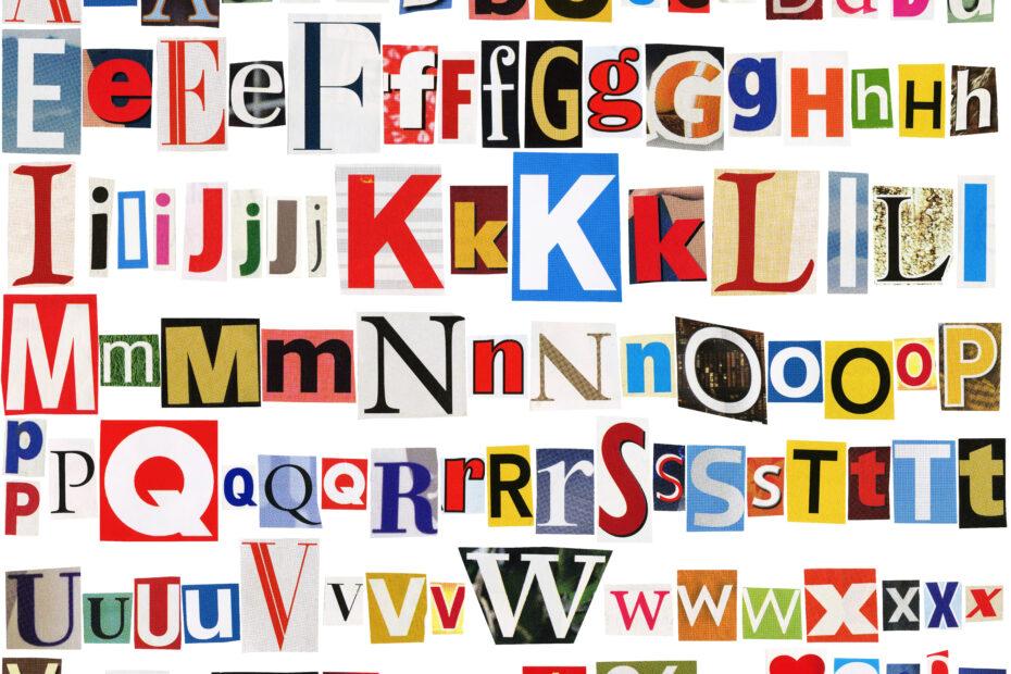Isoja ja pieniä kirjaimia