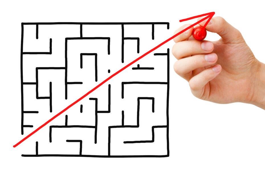 Sokkelon läpi saattaa löytyä hyvin yksinkertainen reitti.
